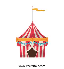 Isolated carnival tent design