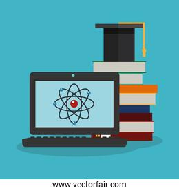 Colorful laptop and science design