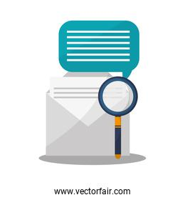 envelope and magnifying glass icon
