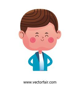 cute boy cartoon icon