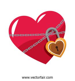 heart with padlock icon