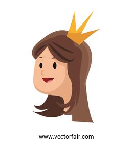 princess cartoon icon