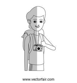 handsome young man with backpack icon image