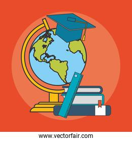 books and earht planet icon