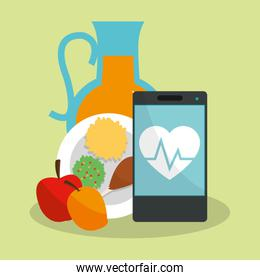health and fitness related icons image