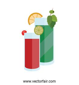 red and green cocktail illustration