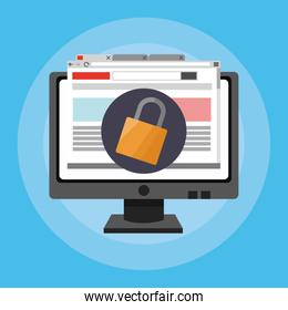 online security related icons image