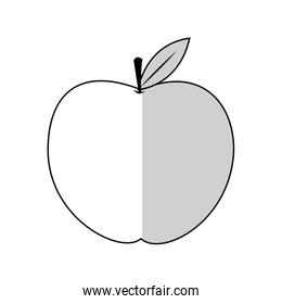 apple fruit icon over
