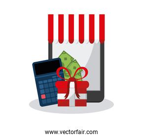 online shopping related icons image