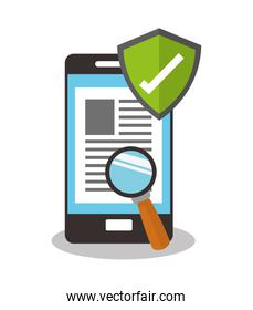 smartphone and documents related icons