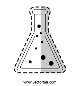 test tube science icon image