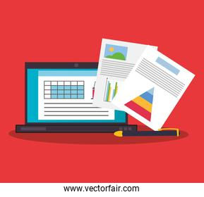 graph chart finance related icons image
