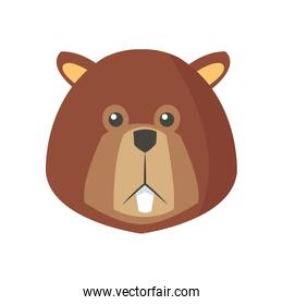 beaver cartoon icon