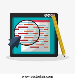 search in web related icons image