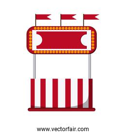 circus ticket tent icon
