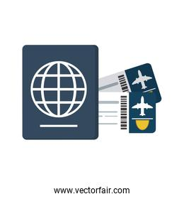 boarding pass and passport icon image