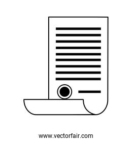 scroll document with stamp icon image