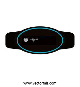 mobile heart rate monitor icon image