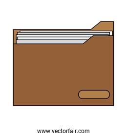 colorful graphic folder with documents inside