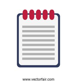 wired notebook illustration  image
