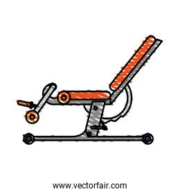 color drawing pencil cartoon gym machine for exercises