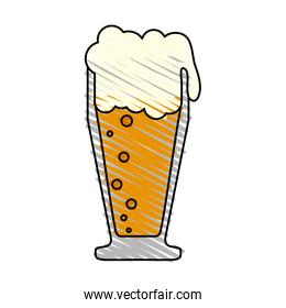 color drawing pencil cartoon foamy beer glass