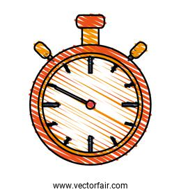 color drawing pencil cartoon stopwatch graphic