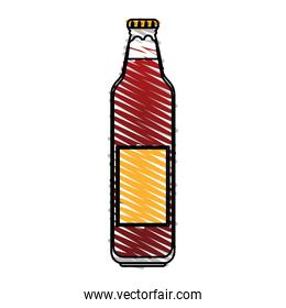 color drawing pencil cartoon bottle glass of refresh beverage