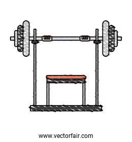 color drawing pencil cartoon weight lifting machine