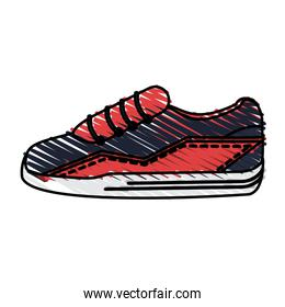 color drawing pencil cartoon sneaker sport shoes