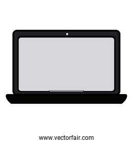blank screen laptop computer icon image
