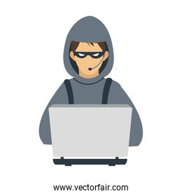 male hacker icon image