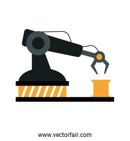 assembly line industrial machine icon image