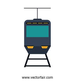 train or tramway frontview icon image