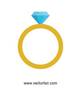 ring with diamond engagement icon image