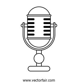 stationary vintage microphone icon image
