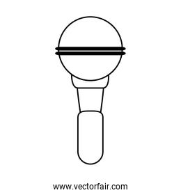 mobile wireless microphone icon image