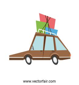 car sideview cartoon icon image