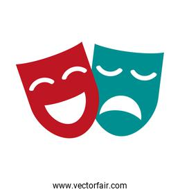 theater masks concept icon image