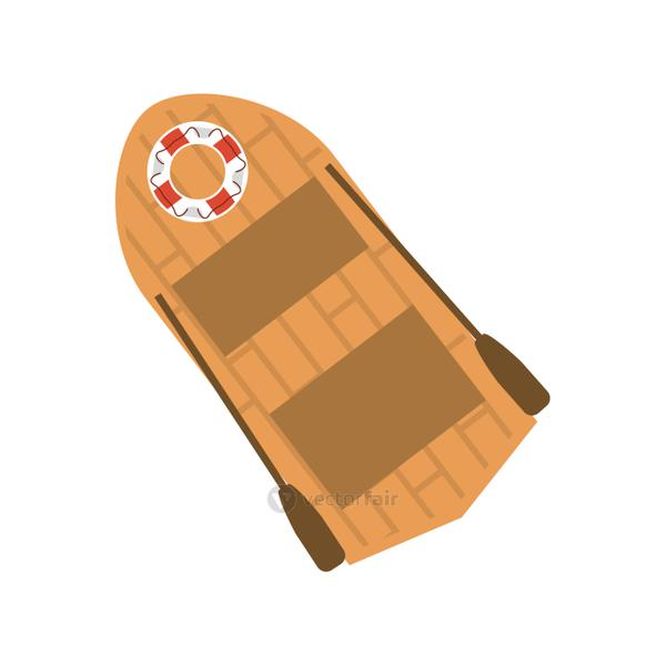 lifeboat with oars icon image