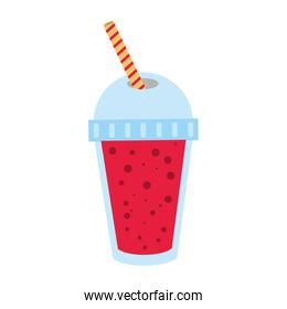 soft drink in disposable cup icon image