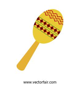 maraca flat illustration
