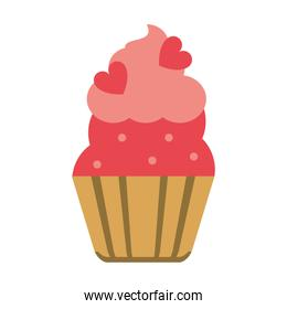cupcake with heart toppings icon image