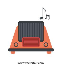 vintage radio playing music icon image