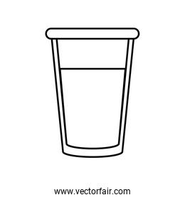 glass cup with beverage icon image