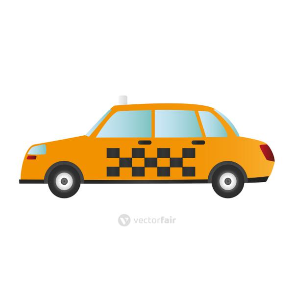 taxi or cab sideview icon image