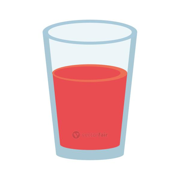 fruit juice in glass cup icon image