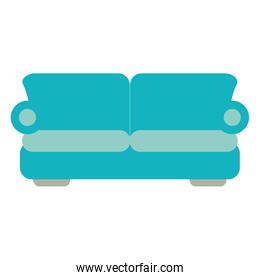 two seat couch or sofa icon image