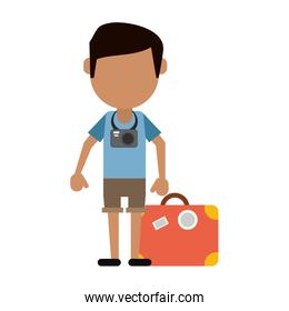 traveler or tourist avatar icon image