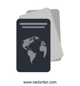 passport with planet on cover icon image